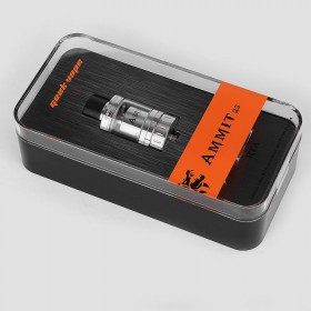authentic-geekvape-ammit-25-rta-rebuildable-tank-atomizer-silver-stainless-steel-2ml-5ml-25mm-diameter